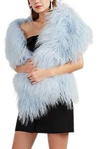 Barneys New York Women's Lamb Fur Shrug - Blue