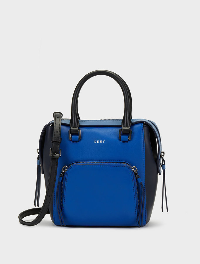 DKNY SMALL GREENWICH COLORBLOCK NORTH\u002FSOUTH SATCHEL