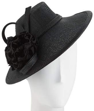 Rachel Trevor-morgan Rachel Trevor Morgan Zigzag Straw Hat w/ Flower & Twist Trim