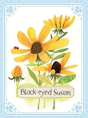 Eeboo Black-eyed Susan Flower Canvas Wall Art
