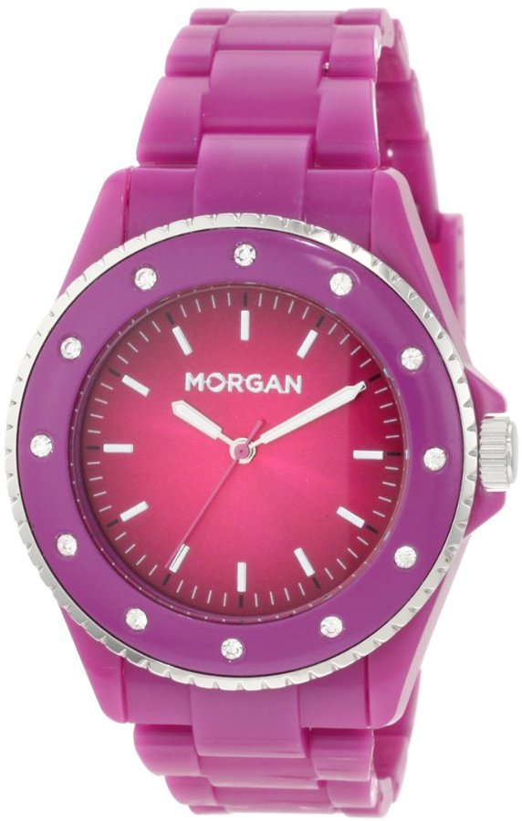 Morgan Women's M1095VP Sporty Violet Plastic Watch