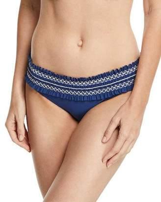 Tory Burch Costa Embroidered Hipster Swim Bikini Bottom