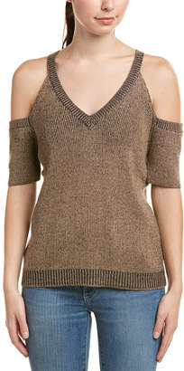 Splendid Cold-Shoulder Wool-Blend Top