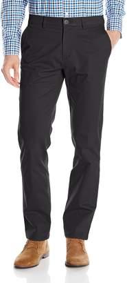 Haggar Men's City Chino Stretch Slim Fit Flex Waistband Flat Front Pant