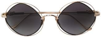 Chrome Hearts round frame sunglasses