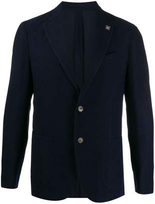 woven fitted blazer