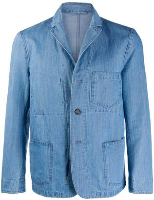 Officine Generale denim blazer jacket