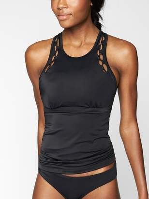 Athleta High Neck Bra Cup Loop Tankini