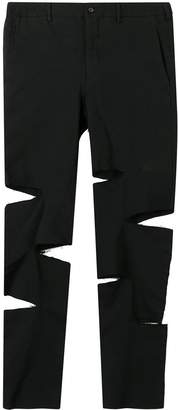 Comme des Garcons cut-out tailored trousers