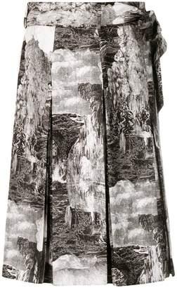Burberry Dreamscape print skirt