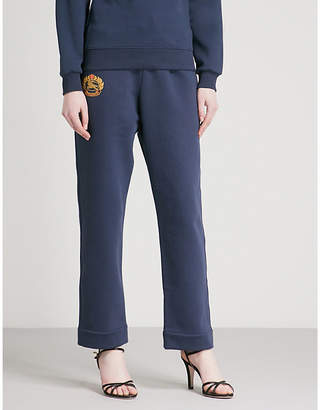 Burberry Burberrys brand-embroidered cotton-blend jogging bottoms