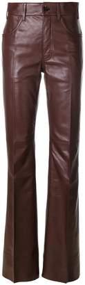 Prada flared high waisted trousers