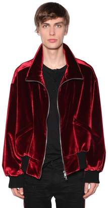 Amiri Zip-Up Cotton Velvet Jacket