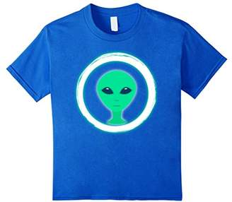 Neon Party Alien Head Theme Party Shirt Glow in Dark T-Shirt