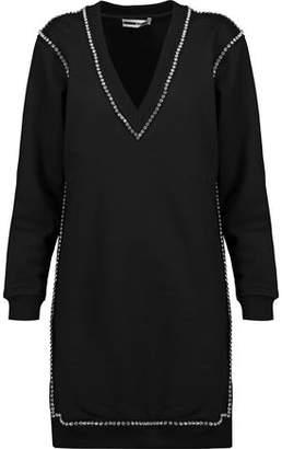 McQ Crystal-Embellished Cotton Mini Dress
