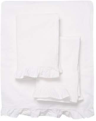 Melange Home Linen-Blend Ruffle Sheet Set