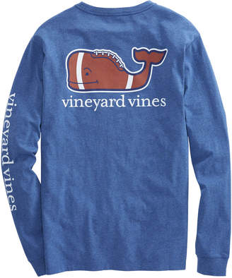 Vineyard Vines Long-Sleeve Heathered Football Whale Pocket T-Shirt