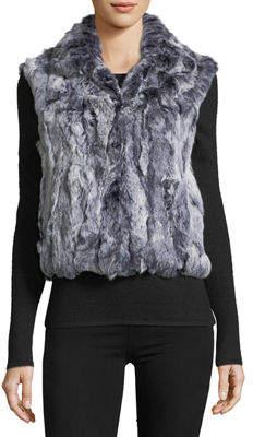 Adrienne Landau Snowtop Fur Vest