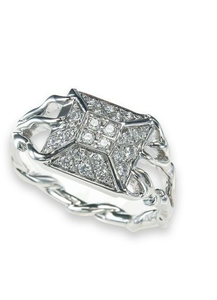Twinkle by Wenlan 14k White Gold Diamond Ring
