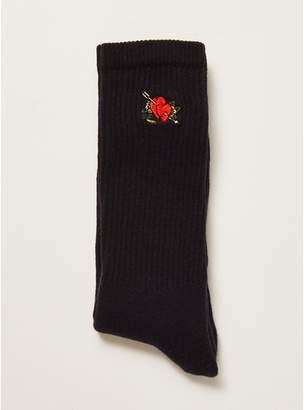 Topman Mens Navy Heart Tube Socks