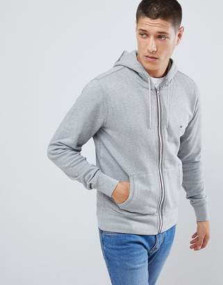 Tommy Hilfiger zip through hoodie in grey