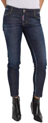 DSQUARED2 Done Deal Dark Cool Girl Cropped Jeans