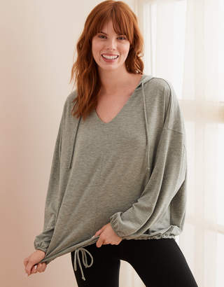 Aerie Real Soft Drapey Hoodie