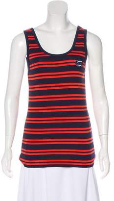Tory Sport Striped Sleeveless Top