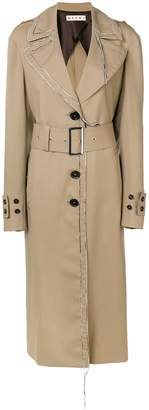 Marni contrast stitching trench coat