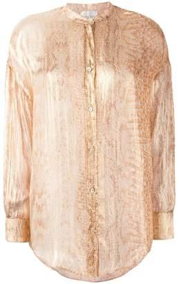 Forte Forte snakeskin print shirt