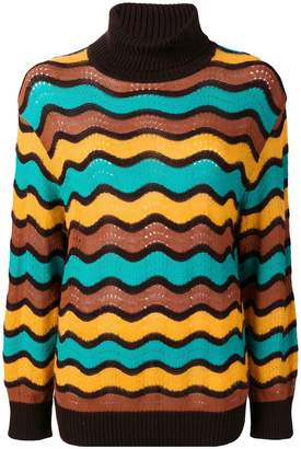 M Missoni loose-fitted wave turtleneck