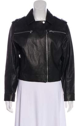 J Brand Leather Casual Jacket