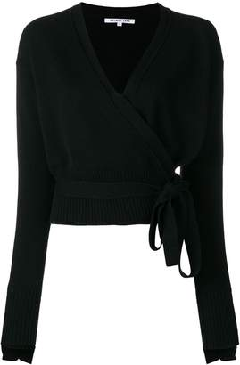 Helmut Lang cashmere wrapped blouse