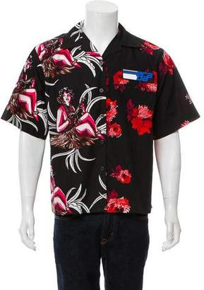 Prada 2018 Printed Button-Up Shirt