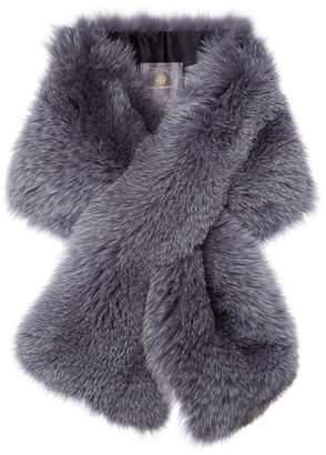 Arabella Lilly E Violetta Womens Blue Fox Fur Scarf