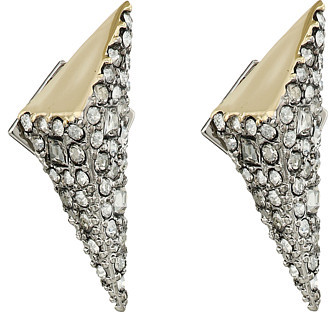 Alexis Bittar Alexis Bittar Two-Tone Crystal Encrusted Pyramid Post Earrings