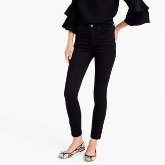 """J.Crew Tall 9"""" high-rise stretchy toothpick jean in new black"""