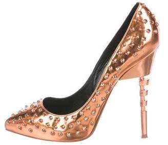 Ruthie Davis Metallic Spiked Pumps