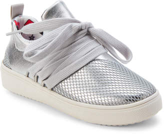 Steve Madden Kids Girls) Silver Lancer Lace-Up Sneakers