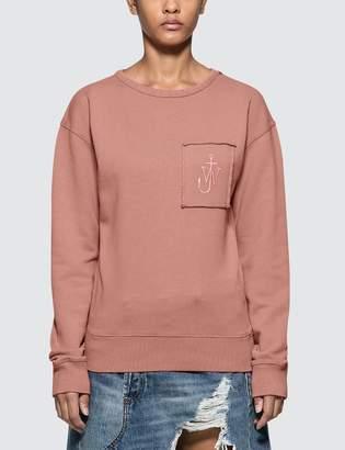 J.W.Anderson Garment Dyed Jwa Anchor Patch Sweatshirt
