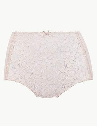Marks and Spencer Cotton Blend Front Lace Full Briefs