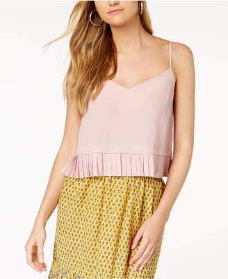 French Connection Pleated-Hem Top