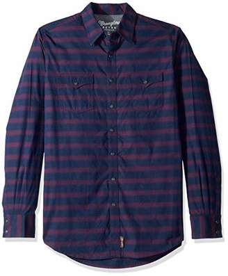 Wrangler Men's Size Big and Tall Retro Western Snap Front Long Sleeve Shirt
