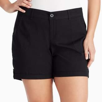 Gloria Vanderbilt Plus Size Misha Twill Button-Tab Shorts