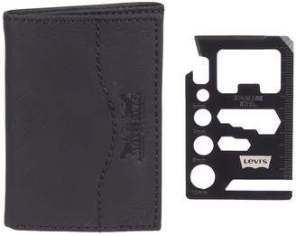Levi's Levis Men's RFID-Blocking Wallet with Credit Card Multi-Tool