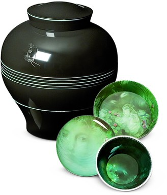 Ibride Yuan Black Vase / Stackable Bowls & Plates