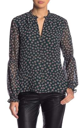 1 STATE 1.State Blouson Sleeve Ditsy Floral Blouse