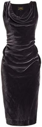 Vivienne Westwood Virginia ruched velvet midi dress
