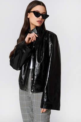NA-KD Na Kd Wide Sleeve Patent Jacket