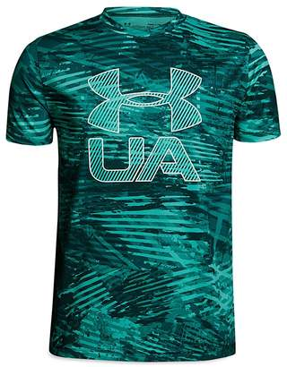 Under Armour Boys' Printed Logo Tee - Big Kid
